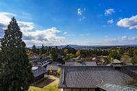 奈良県 東大寺二月堂より大仏殿紅葉