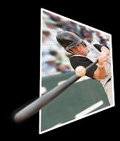 飛び出す野球イメージ
