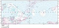 世界全図 白地図