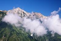 長野県 八方尾根より鑓ケ岳と杓子岳