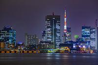 東京都 江東区 豊洲ぐるり公園からの東京タワー