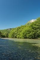 長野県 上高地 焼岳と梓川