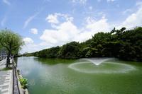 兵庫県 明石城址の濠