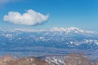 長野県 野沢温泉スキー場より妙高山を望む