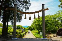 奈良県 桜井市 大神神社の摂社 桧原神社 縄鳥居