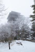 和歌山県 雪の護摩壇山 ごまさんスカイタワー