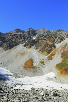 長野県 奥穂高岳と涸沢カールの雪渓
