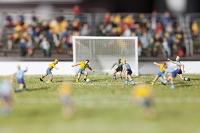ミニチュアのサッカーイメージ