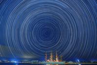 富山県 海王丸と北極星と日周運動