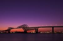 東京都 東京ゲートブリッジと富士山 暮色