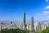 像山より望む台北の街並み