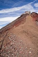 静岡県 富士山 剣ヶ峰 斜面 砂礫