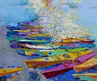 「Canoes on the Beach 1」
