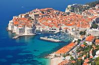 クロアチア ドゥブロヴニクの町とアドリア海