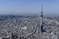 東京都 スカイツリーと都心・新宿・富士山方面