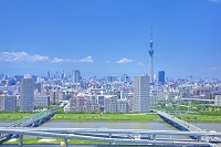 東京都 東京スカイツリーと荒川