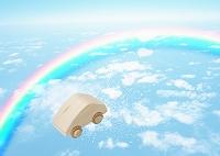 虹とエコカーイメージ