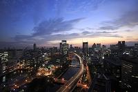 大阪府 大阪市 中之島の夕焼け空