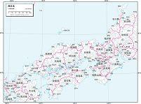 西日本 白地図