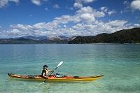 ニュージーランド カヤックをする女性
