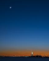 アメリカ合衆国 ニューヨーク州  バッテリーパークから見る自...