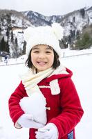 雪山の子供