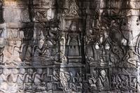 カンボジア アンコール遺跡 バイヨン廟 浮彫り