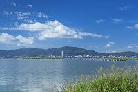 滋賀県 琵琶湖と大津市街