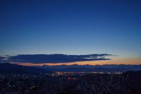 長野県 長野市松代町 東条あんずの里より後立山連峰の夕景