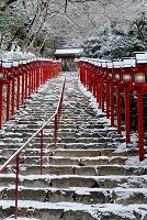 京都市 雪の貴船神社参道