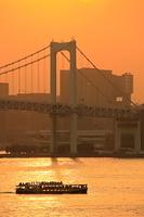 東京都 レインボーブリッジの夕暮れ
