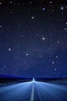夜道と沢山の星