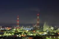 福岡県 黒崎城址公園から北九州の工場夜景