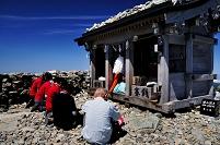 富山県 立山町 立山・雄山山頂の雄山神社・峰本社