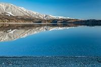 長野県 青木湖の雪景色