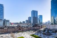 東京都 新丸ビルから見た東京駅丸の内駅前広場