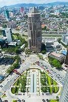 マレーシア ツインタワーから望むクアラルンプール環状道路