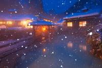 秋田県 鶴の湯温泉の露天風呂