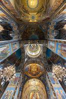 血の上の教会 内部 サンクトペテルブルグ ロシア