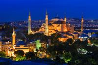 トルコ イスタンブール アヤソフィア/夜景