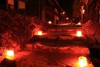 長野県南木曾町 妻籠宿氷雪の灯まつり