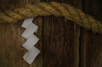 奈良県 神木の紙垂と注連縄