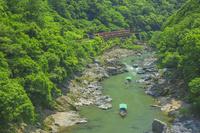 京都府 嵯峨野トロッコ列車と川下り