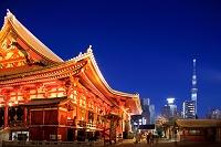 東京都 浅草寺 夜景