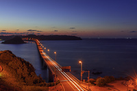 山口県 角島大橋と角島夜景