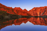 長野県 紅葉の八方池と不帰の剣と天狗の頭朝景 八方尾根