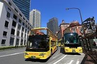 東京都  東京駅前の観光バス