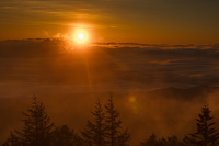 美ヶ原高原からの日の出
