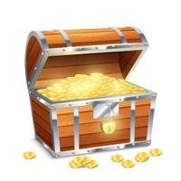 箱にゴールド