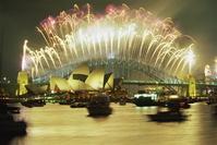 オーストラリア シドニー 新年の花火